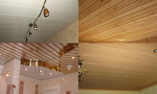 Виды отделки потолка: пвх панелями, вагонкой, реечными панелями, мдф панелями