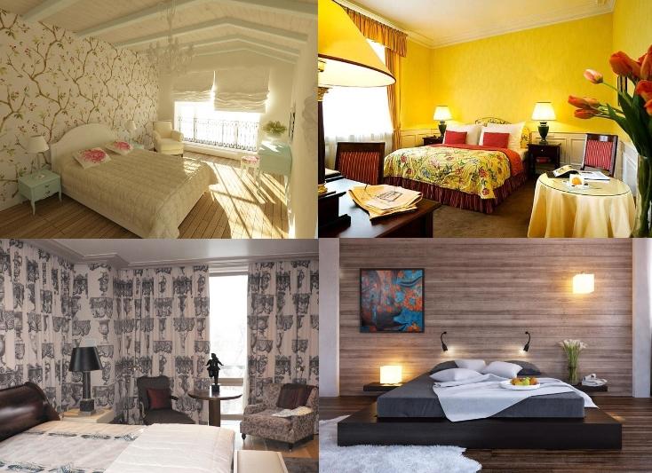 Виды отделки стен в спальне: обоями, покраской, драпировкой тканью, деревом