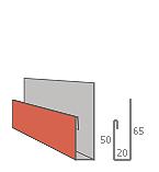 j-профиль металлического сайдинга - наличник