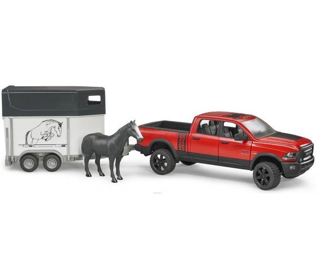 Игрушка Bruder Ram 2500 Пикап c коневозкой и одной лошадью 02-501 - фото 1